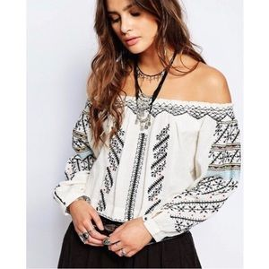 Free People 'All I Need' Embroidered Blouse
